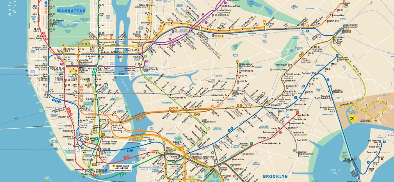 Cartina Metropolitana Di Parigi Da Stampare.Mappa Di New York In Pdf Da Stampare Metro Treni E Bus
